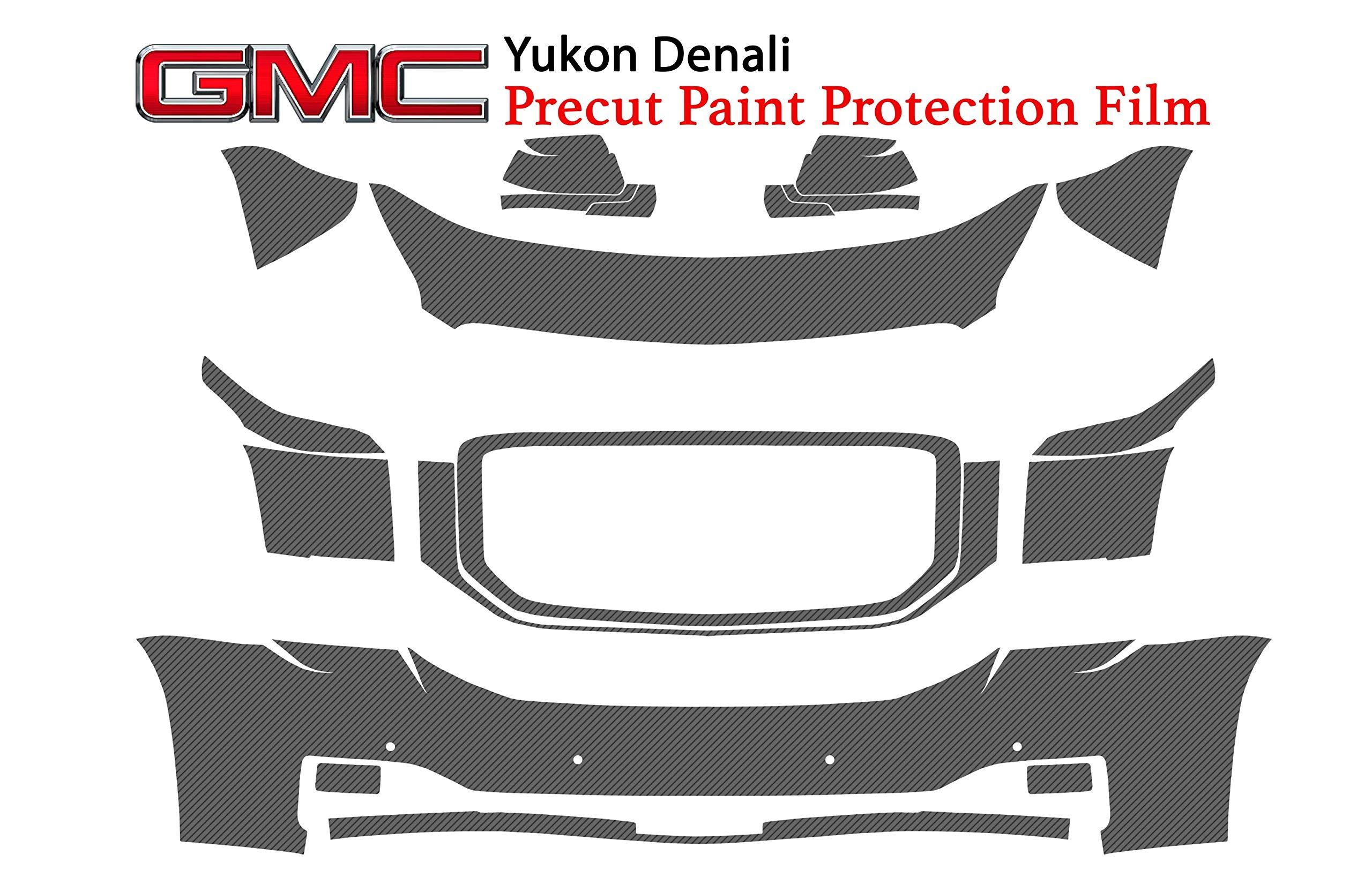 The Online Liquidator Full Front Protective Film GMC Yukon Denali 2015-2018 - Clear Bra Professional Car Paint Shield Cover