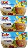 Dole, Mixed Fruit in Juice Cherry, 16 Oz, Pack of 4
