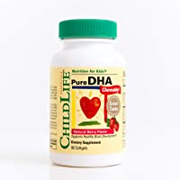 Child Life Pure DHA Dietary Supplement, 90 Soft Gel Capsules (Pack of 3)
