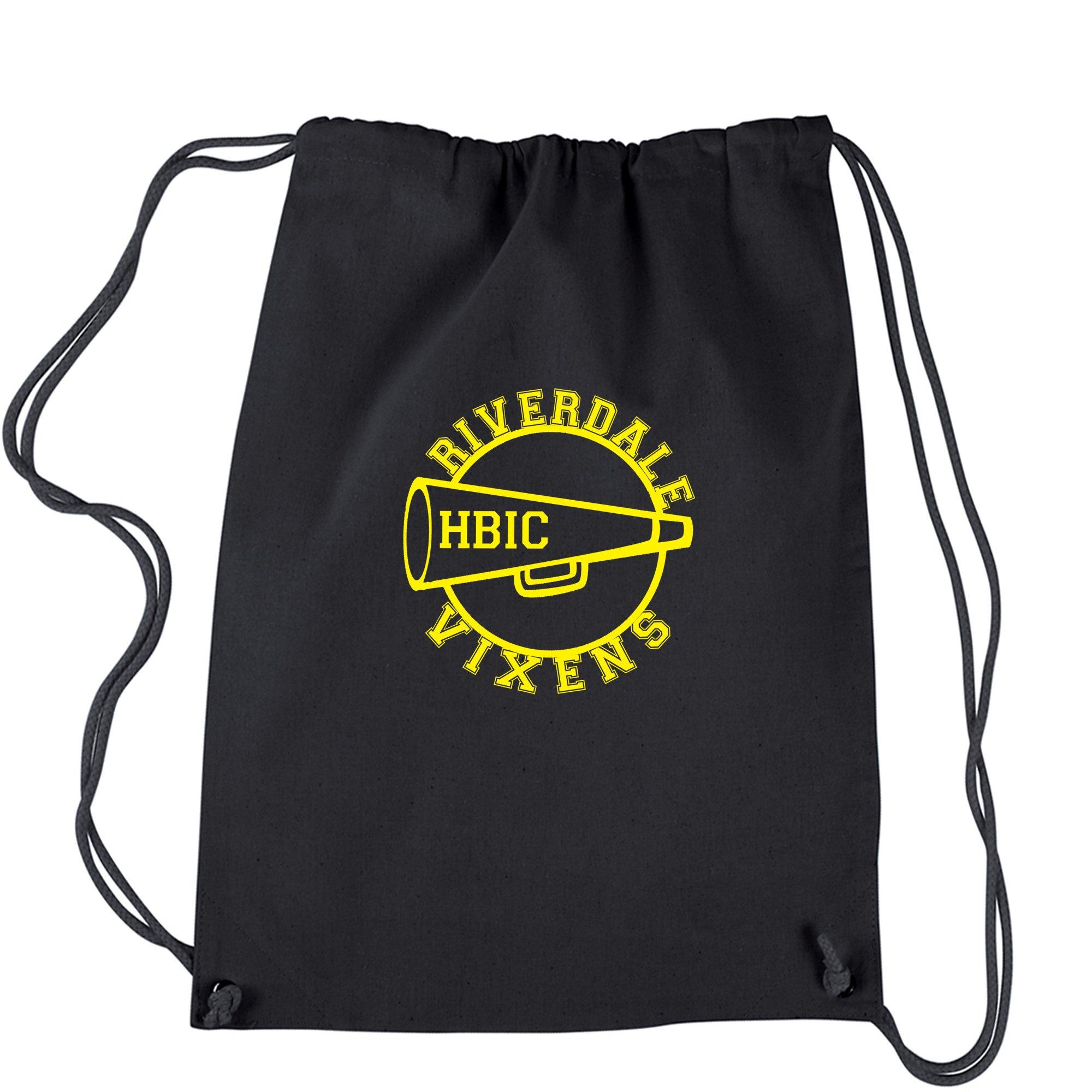 Backpack Riverdale Vixens Cheerleading Black Drawstring Backpack