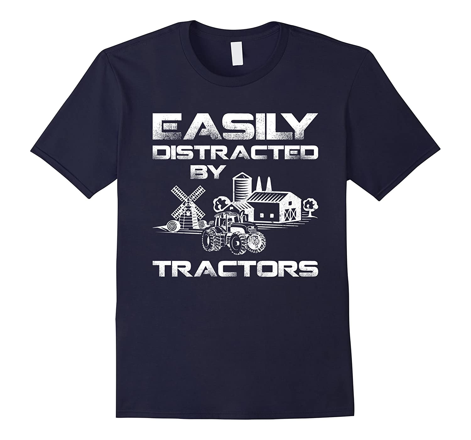Easily Distracted By Tractors T-Shirt For Who Love Farm-FL