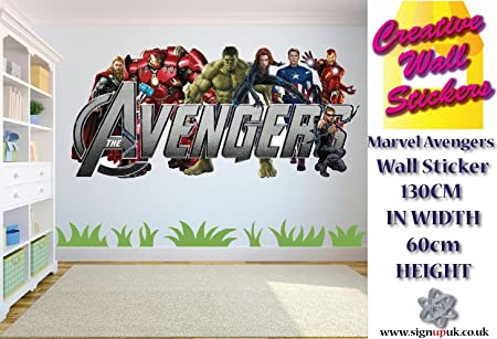 Marvel Avengers Wall Sticker Kids Bedroom wall decal extra large wall sticker.  sc 1 st  Amazon UK & Marvel Avengers Wall Sticker Kids Bedroom wall decal extra large ...