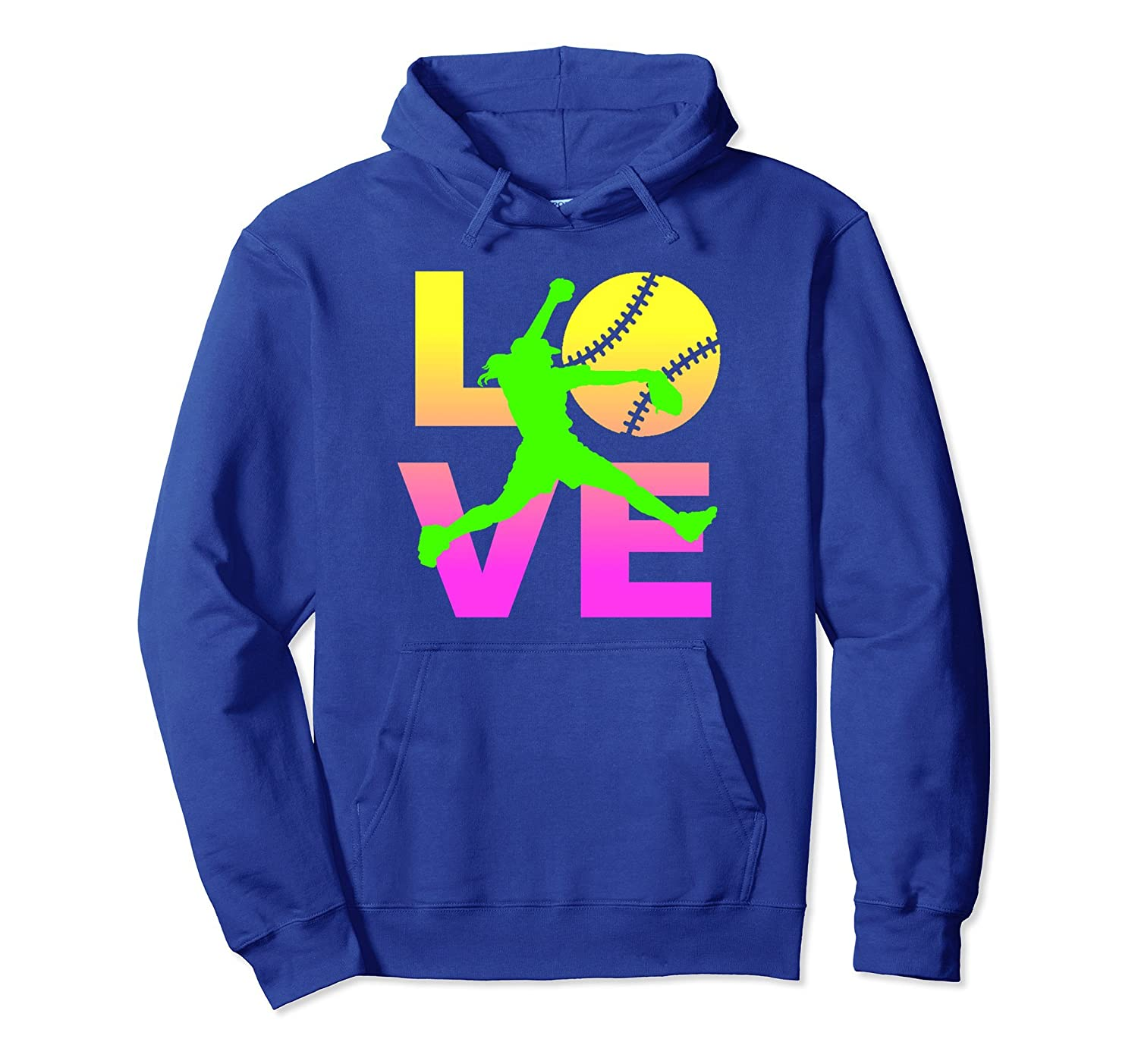 LOVE Softball Player Fast Pitch Teen Girls Women Hoodie-AZP