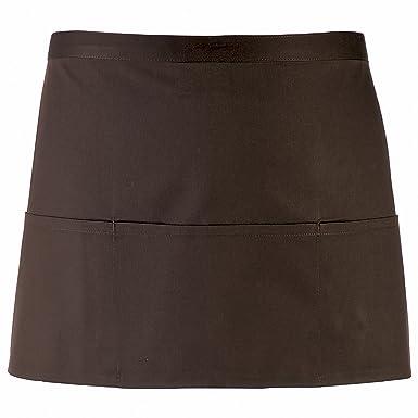 dc533fdab Premier Ladies/Womens Colours 3 Pocket Apron / Workwear (One Size) (Brown):  Amazon.co.uk: Clothing