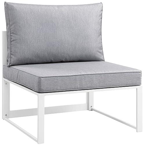 Modway Fortuna Aluminum Outdoor Patio Armless Chair