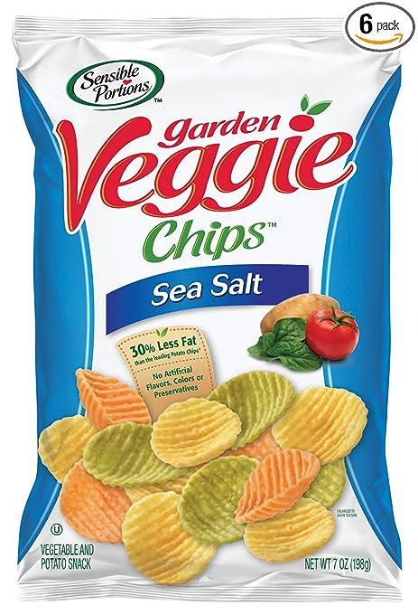 Sensible Portions Garden Veggie Chips, Sea Salt, 7 Ounce (Pack of 6)