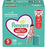 Pampers Diapers Size 5 - Cruisers 360˚ Fit Disposable Baby Diapers with Stretchy Waistband, 56 Count, Super Pack (Packaging M