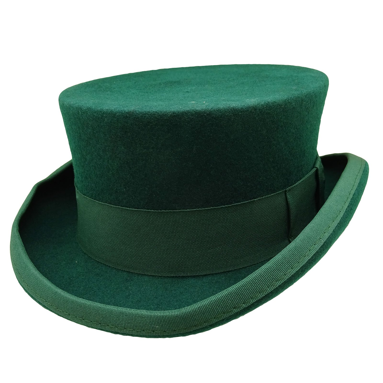 HATsanity Unisex Vintage Wool Felt Formal Tuxedo Coachman Hat (X-Large, Green)