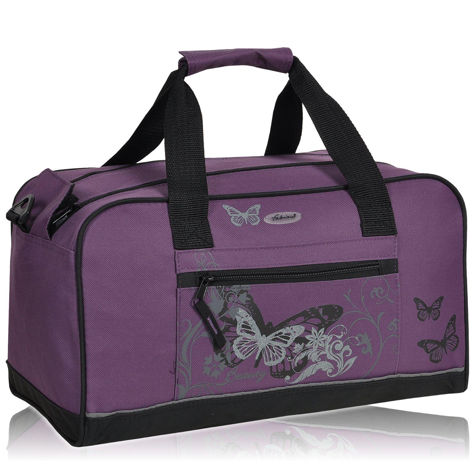 b69da2d1ffcee FABRIZIO BUTTERFLY Sporttasche Beauty Schulsporttasche Sport Tasche      Lila product image