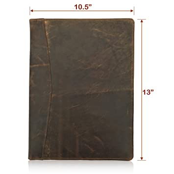 amazon com leather portfolio resume folder professional padfolio