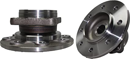 Brand New (Both) Front Wheel Hub and Bearing Assembly for 1994-1999 Dodge  Ram 2500 4x4 8 Lug W/o ABS (Pair) DANA 60 AXLE - Rectangular Flange
