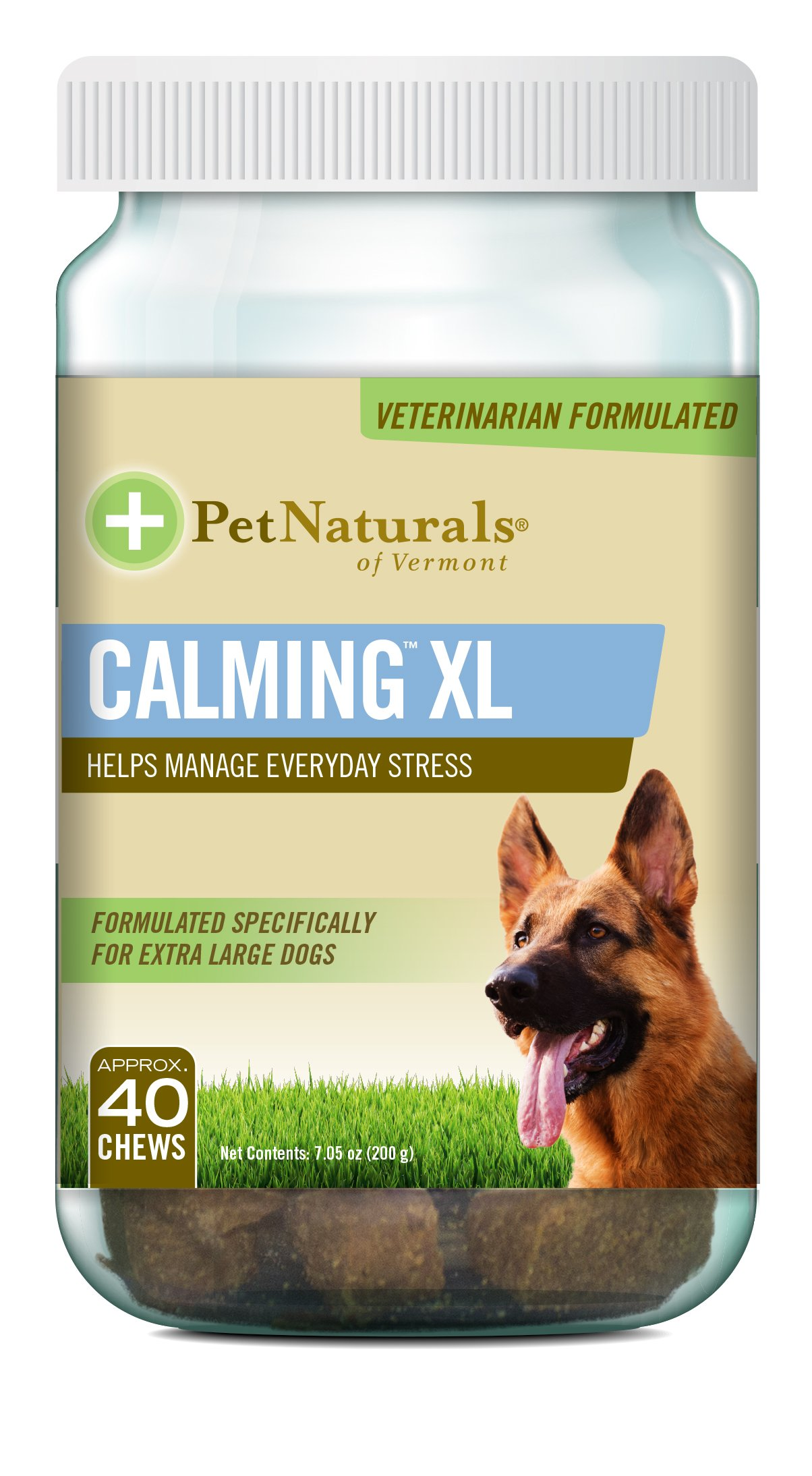 Pet Naturals of Vermont - Calming XL, Behavior Support Supplement for Dogs 75 LBS and Up, 40 Bite-Sized Chews