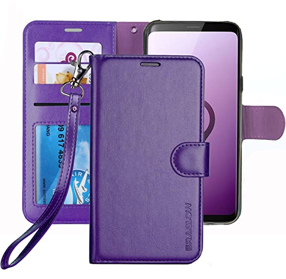 samsung galaxy s9 case wallet purple