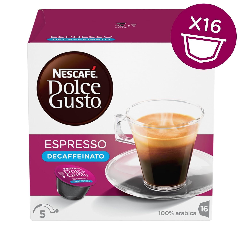 Nescafé Dolce Gusto - Espresso Descafeinado - 3 Paquetes de 16 ...