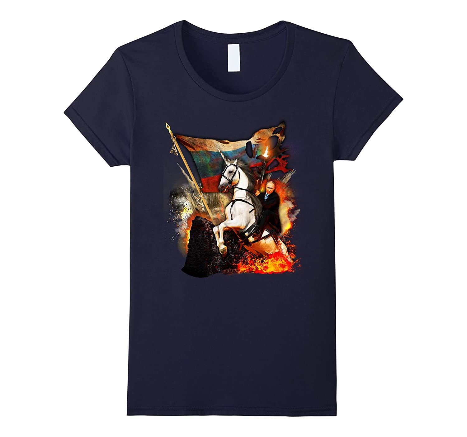 "Limited Edition ""Vladimir Putin Riding Unicorn"" T-shirt"