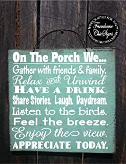 woodensign porch rules porch sign porch decor porch decoration porch decor outdoor living outdoor life sign