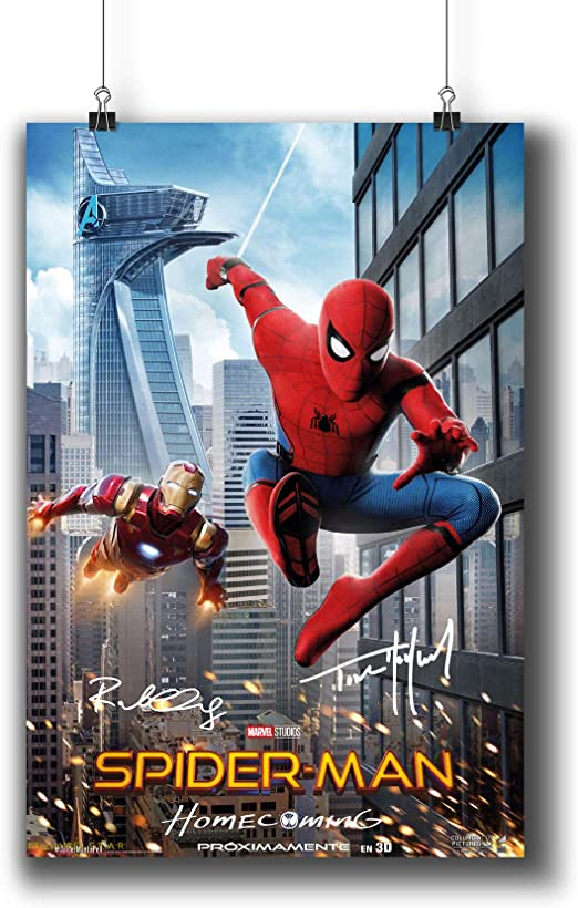SPIDERMAN /& IRON MAN HOMECOMING POSTER Art Photo Picture Print Poster A4 A3