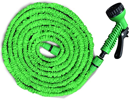 Manguera de jardín flexible, peso ligero, ahorro de espacio, con ducha con 7 funciones, tres longitudes a elegir: Amazon.es: Jardín