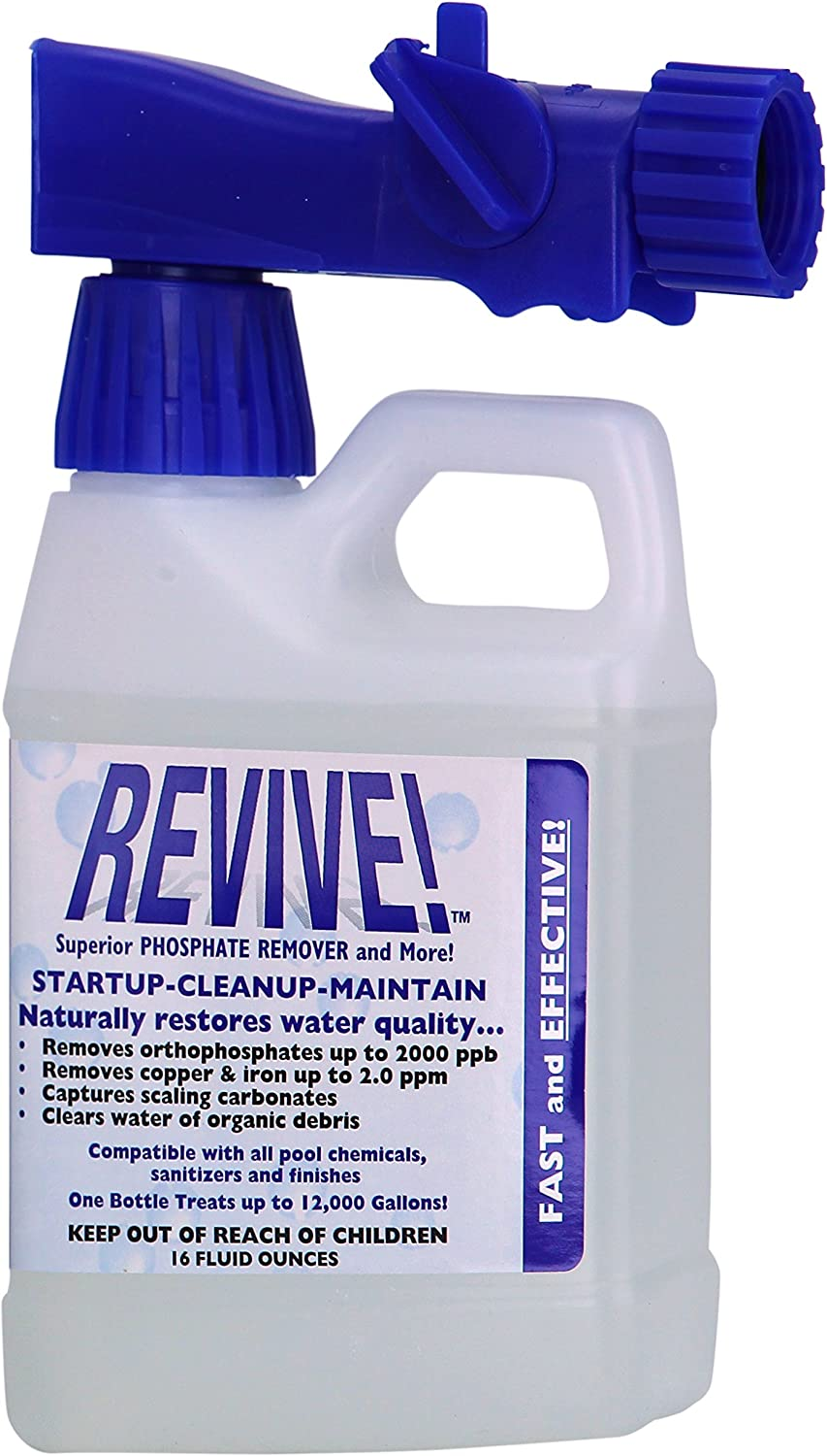 Amazon Com Revive Swimming Pool Phosphate And Algae Remover Chemical For Pools 16 Oz Home Kitchen