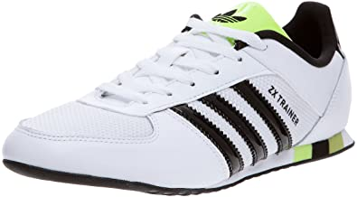 adidas Originals ZX Trainer, Baskets mode homme, Blanc/Noir/Jaune, 39