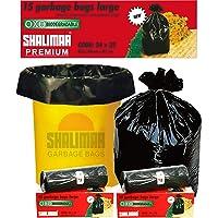 Shalimar Premium OXO - Biodegradable Garbage Bags (Large) Size 60 cm x 81 cm 4 Rolls (60 Bags) (Black Color)