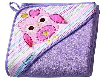 843cc8c1f67 Babyono Children's Bath Towel with Hood 100x100 cm BO0002(Purple/Owl ...