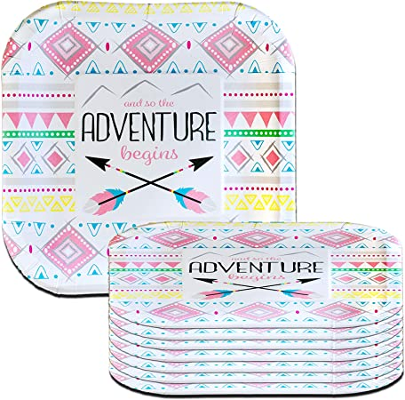 Adorable Adventure Begins Girl Pink Tribal Baby Shower Cardstock /& Honeycomb Table Centerpiece More To Match In This Shop!