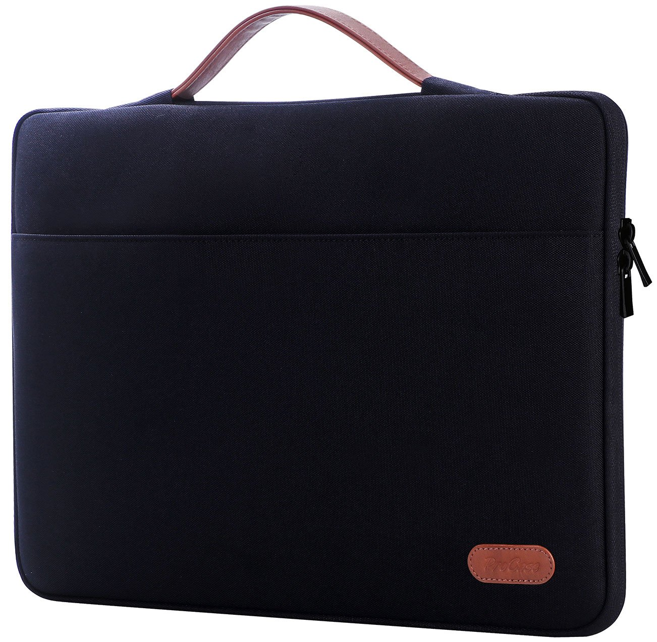 ProCase 14-15.6 Inch Laptop Sleeve Case Protective Bag, Ultrabook Notebook Carrying Case Handbag for 14'' 15'' 15.6'' Dell Lenovo HP Asus Acer Samsung Sony Toshiba Chromebook Laptop Computers -Black by ProCase