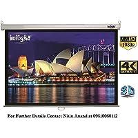 "Inlight Wall Autolock Pull Down Projector Screen (10 Feet x 8 Feet, 150"" Dia, 4:3 Format) for Full HD 1080P 3D & 4K Technology"