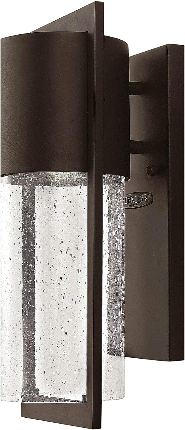 Hinkley 1320KZ Transitional One Light Wall Mount from Shelter Collection Dark Finish, Small, Buckeye Bronze