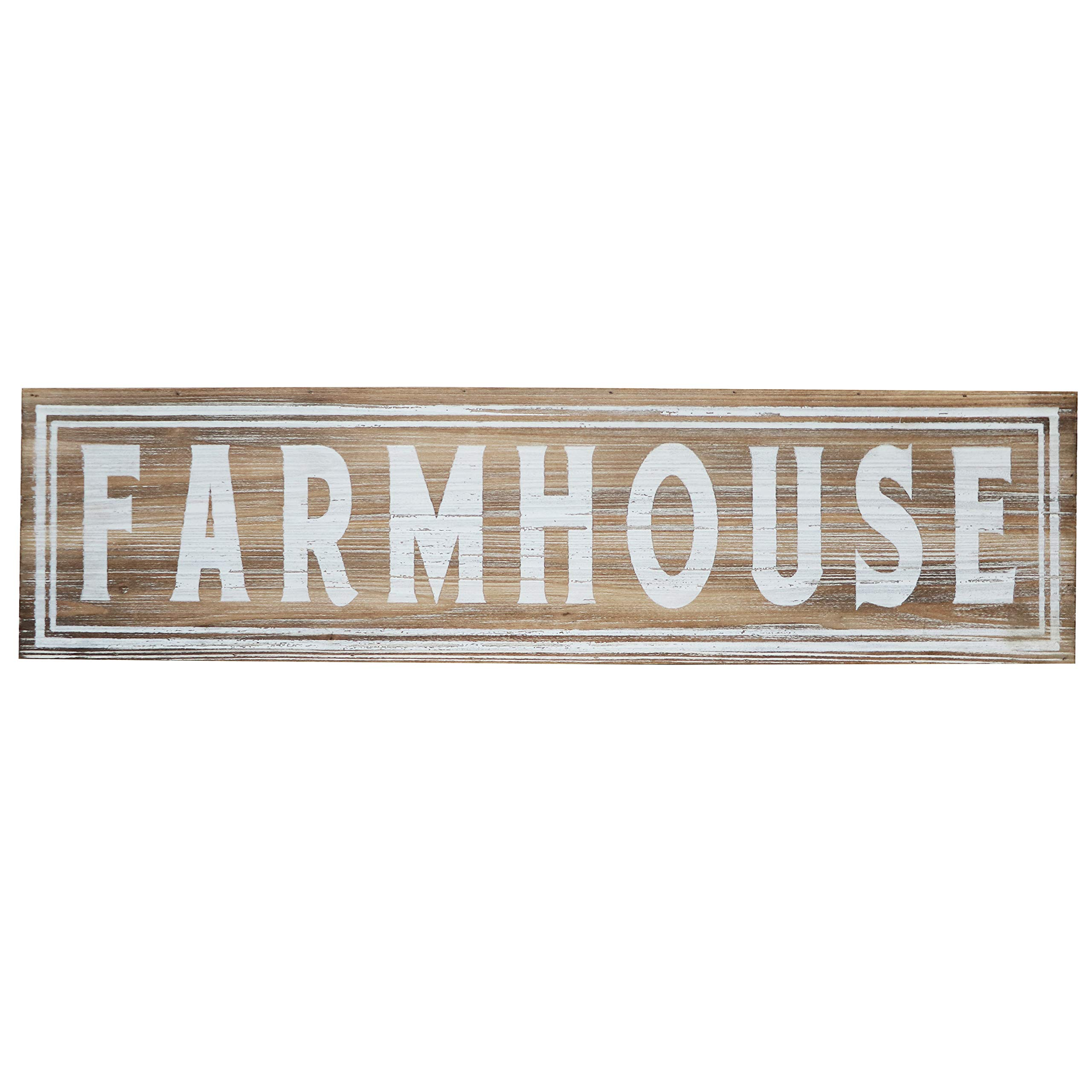 "Barnyard Designs Large Wooden Farmhouse Sign Rustic Vintage Primitive Country Wall Decor 30"" x 8"""
