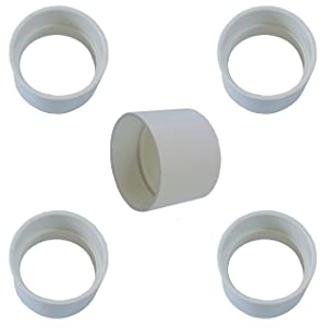 Central Vacuum Coupling - Built in Vacuum Pipe Fitting - Coupling/Coupler Vacuum PVC Fitting - Central Vacuum Pipe Fitting - 5 PACK