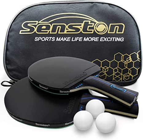 Juego de tenis de mesa con 2 palas de ping pong 4 pelotas de ping pong y bolsa de transporte