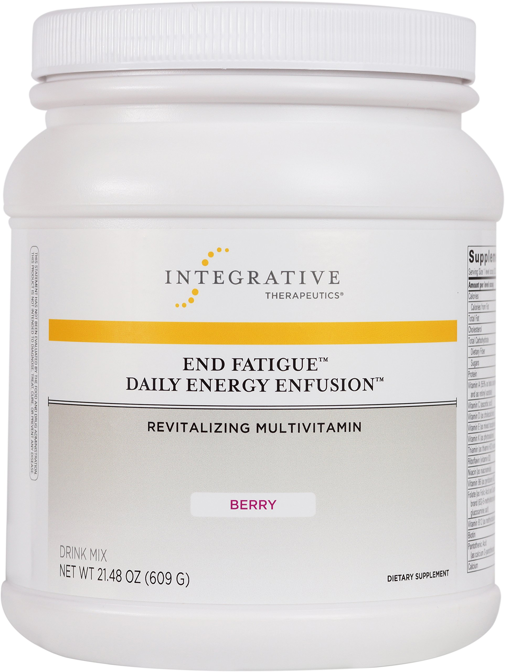 Integrative Therapeutics - End Fatigue Daily Energy Enfusion - Revitalizing Multivitamin - Berry Flavor Drink Mix - 21.48 Ounce