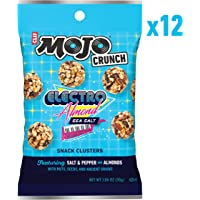 CLIF Bar Mojo Crunch Clusters - Sweet and Salty Snack - Electro Almond Sea Salt - (1.06 Ounce Pouch, 12 Count)