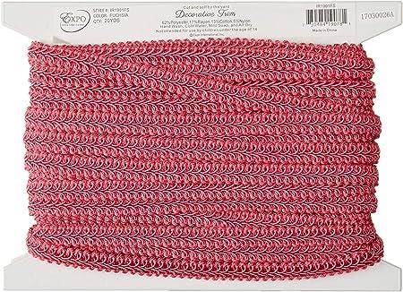 20-Yard Expo International Alice Classic Woven Braid Trim Red