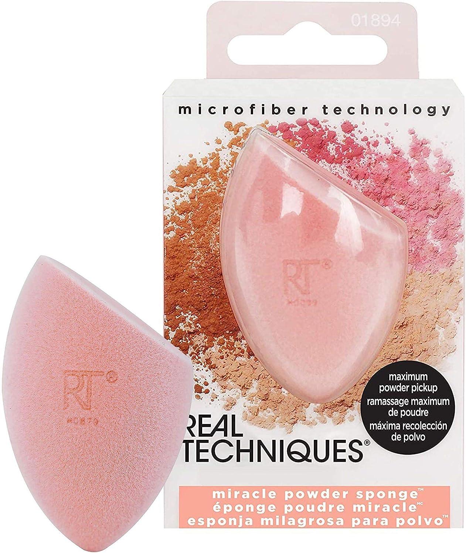 Real Techniques Miracle Powder Sponge - Esponja milagrosa para polvos de espuma, aplicación uniforme: Amazon.es: Belleza