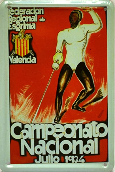 Amazon.com: ART ESCUDELLERS Magnet tin poster sign, with retro vintage design from Catalunya/Spain. Tin sign. 4, 33 X 2, 76 (PAELLA ARROZ ESPAÑOL): Posters ...
