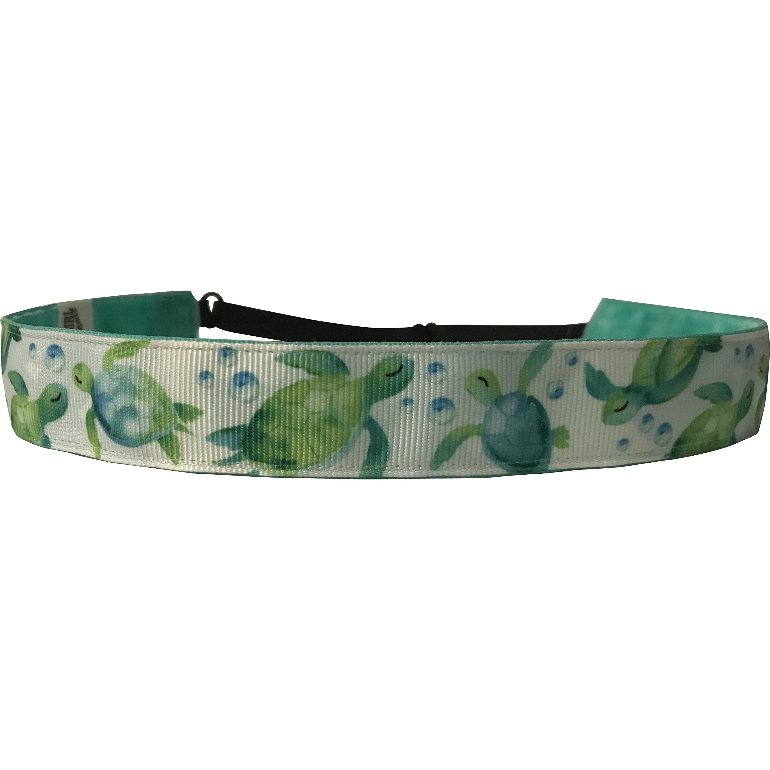 BEACHGIRL Bands Womens and Girl Headband - Non-Slip Velvet-Lined Sport Hairband Turtles