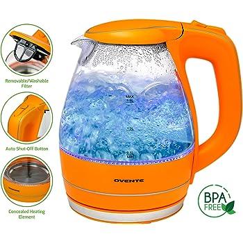 Amazon Com Ovente 1 5l Bpa Free Glass Electric Kettle