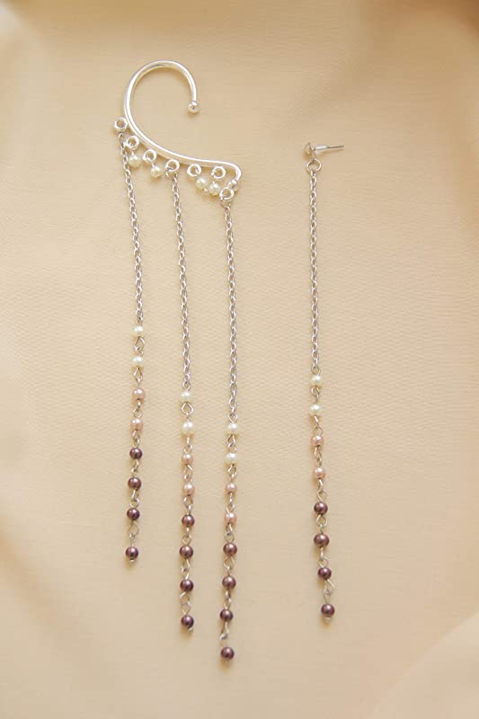 Cup Chain Long Earring Thread Setting 1030100pcs Wholesale Made to Order Base Fine 925 6-8 mm For One Pearl Bead No Prongs Sterling Silver