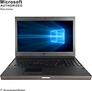 Dell Precision M4800 15.6 inch Workstation PC, Intel Core i5-4210M up to 3.2GHz, 8G DDR3, 1T, WiFi, DVDRW, 2G DDR5 VC, VGA, HDMI, DP, Win 10 Pro 64 Bit Multi-Language Supports En/Fr/Sp(Renewed)