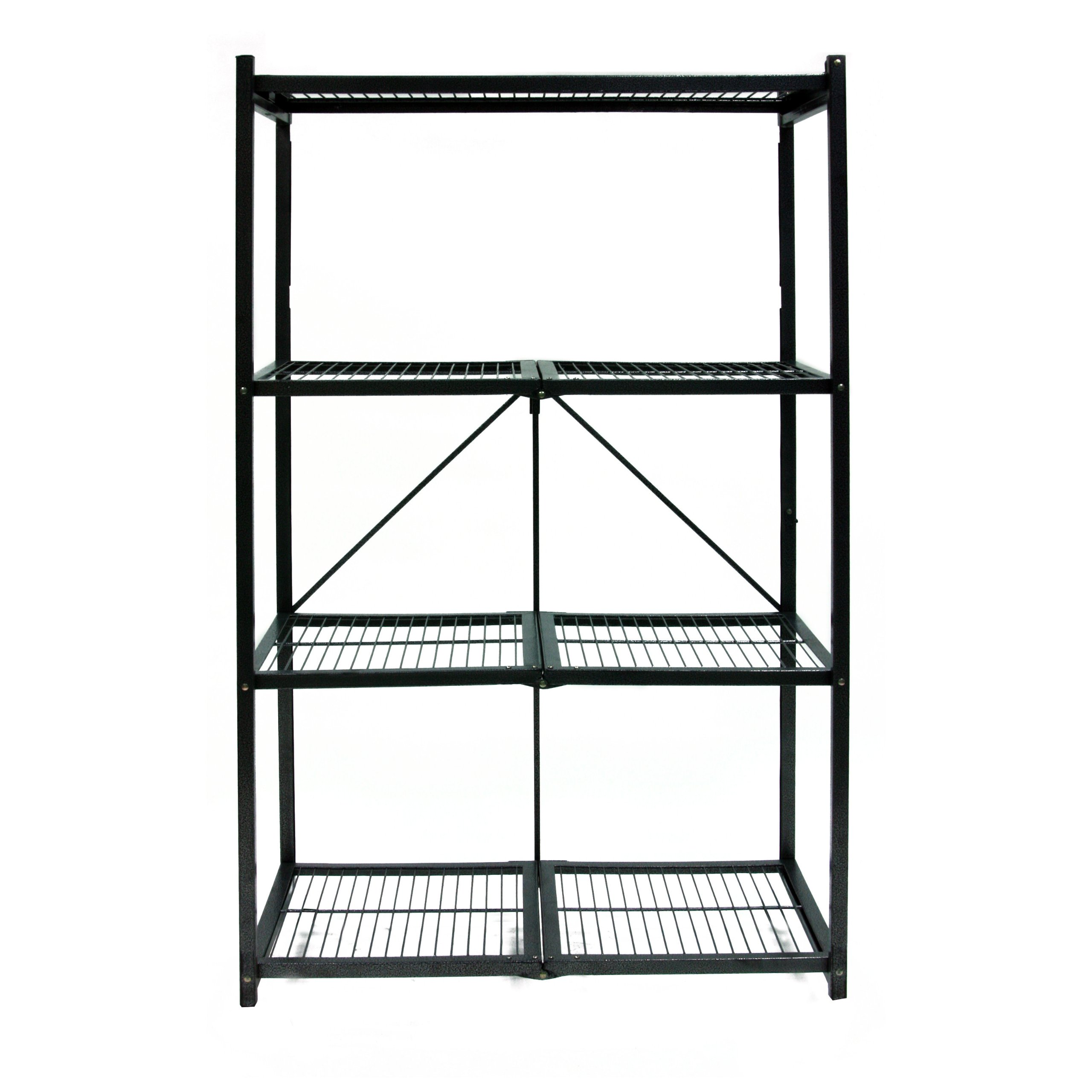 Origami R5-01 General Purpose 4-Shelf Steel Collapsible Storage Rack, Large