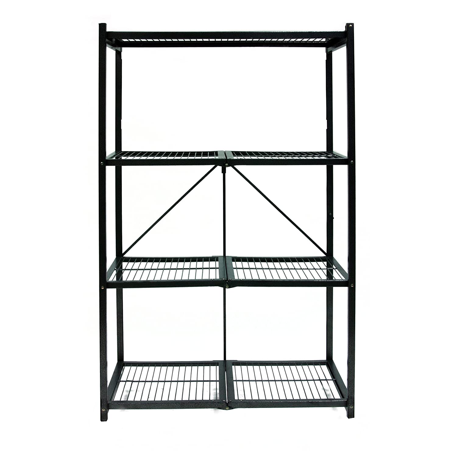 Origami R5-01 General Purpose 4-Shelf Steel Collapsible Storage Rack, Large
