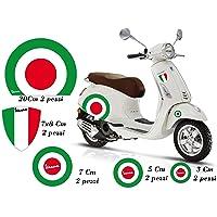 GamesMonkey Sticker Vespa Set Piaggio Vespa Vlaggen Italië velg