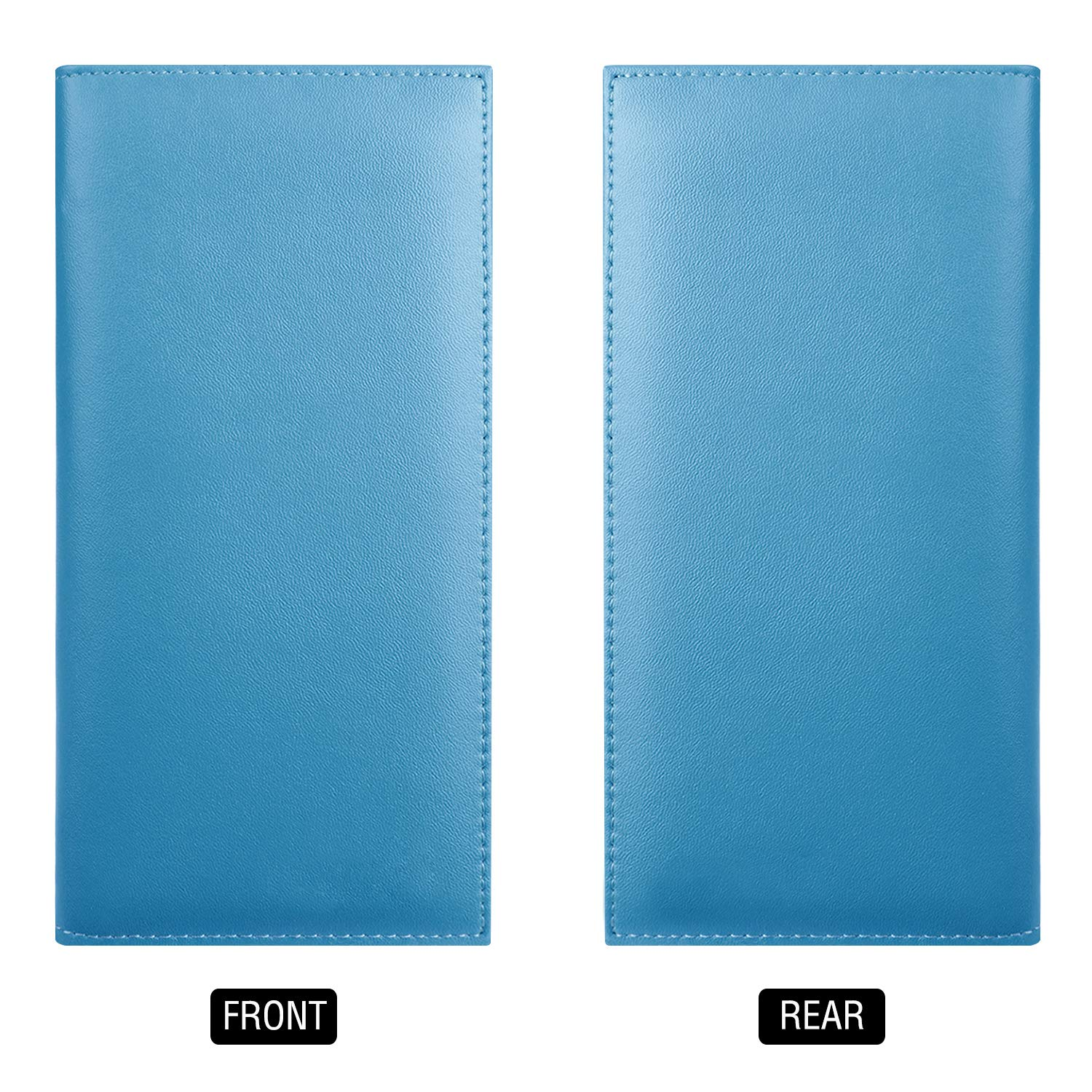Kookio Leather Checkbook Cover With Card Slots for Register Duplicate Checks RFID Blocking For Men and Women