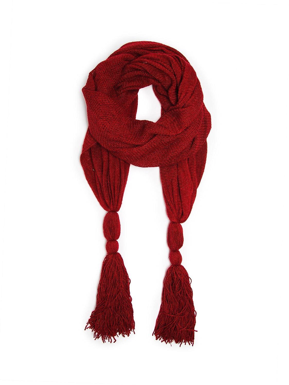 1920s Style Wraps  Alyssa Scarf Shawl Large Tassel Fine Net Crochet $24.95 AT vintagedancer.com