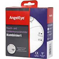 AngelEye SCO5-AE-DER Batteriebetriebener Rauch- und Kohlenmonoxidmelder für die Anwendung in privaten Wohnbereichen weiß