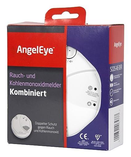 AngelEye- Detector de Humo y monóxido de Carbono a Pilas para Uso en Espacios domésticos