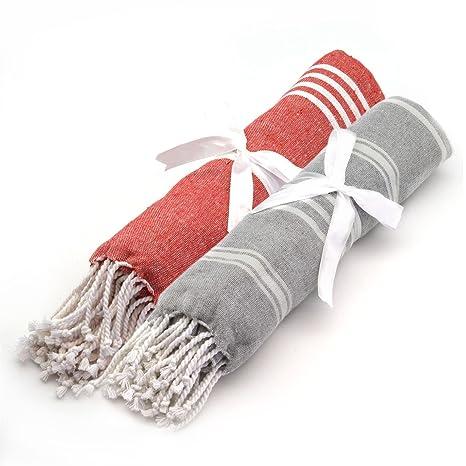 Toalla de playa/Baño de vapor Peshtermal turca. Diseño tradicional de 100% algodón